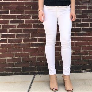 Abercrombie & Fitch White Denim Jeans